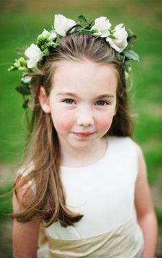 Curly Flower Girl Hairstyles Flower Girls Pinterest Her Hair