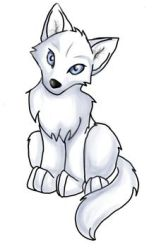 wolf cute drawings anime pup easy coloring pages baby wolves nice cartoon cubs