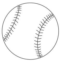 Baseball mitt pattern. Use the printable outline for