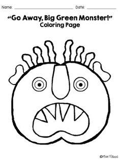 Green monsters, Coloring pages and Coloring on Pinterest