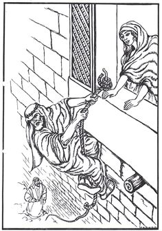 Rahab Hides The Spies Coloring Pages Coloring Pages