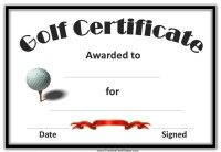 Free funny golf awards and sports award certificates from