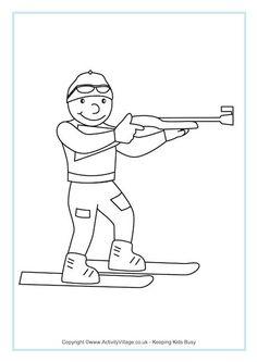 1000+ images about Winterspelen Kleurplaten on Pinterest