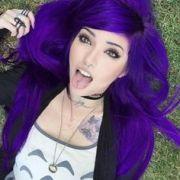 superhero purple hair