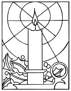 Free Kids Christmas Coloring Pages: Stained Glass