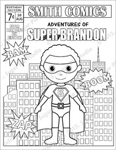 Personalized Printable SuperHero Girl Birthday Party Favor