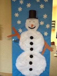 3-D Snowman Door Decoration made out of styrofoam cups ...