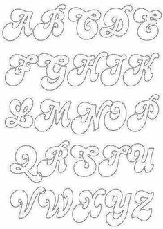 Fonts, Hard times and Cursive alphabet on Pinterest