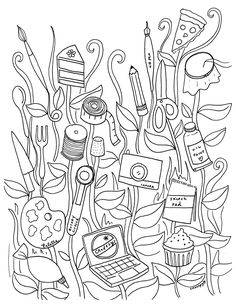 This detailed tree will be fun for your child to color and