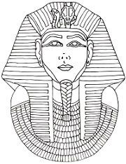 King Tut Page Outline Coloring Pages
