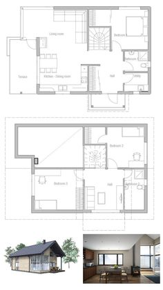 Modest & Affordable Small House Plan Three Bedrooms Two