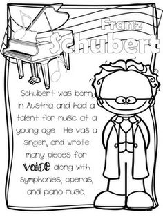 AH! GREAT for Kindergarten and 1st grade listening activities! Play music from the composer they