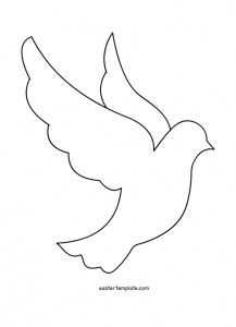 Dove pattern. Use the printable outline for crafts