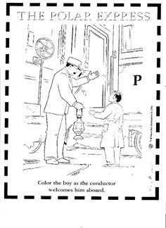 Polar Express Ticket Coloring Page, including tickets