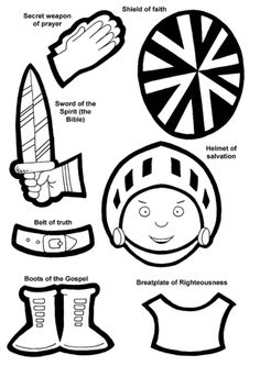 Craft templates to make a complete paper armor of God