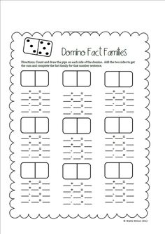 Fact Family Worksheets Addition And Subtraction Pdf