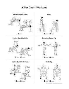 Workout Exercises: Killer Chest Workout Exercises