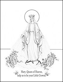 12 Mother's Day Coloring Pages: Honor Mary And The Holy