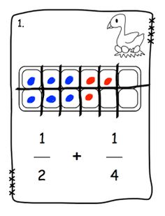 Sixth grade, Egg cartons and Fractions on Pinterest