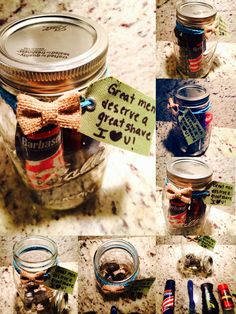 1000 Images About Mason Jar Gift Ideas On Pinterest Shaving Kits After Shave And