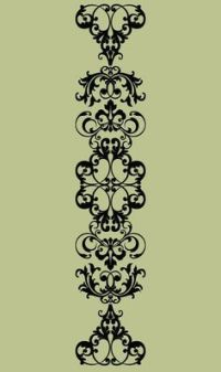 Damask Wall Decal - Damask Scroll Vinyl Wall Decal - extra ...