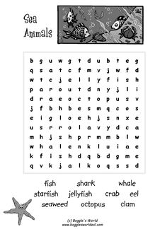 Here is a great little crossword puzzle for introducing