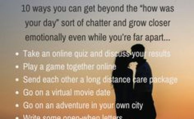 Questions To Ask Your Long Distance Partner Long