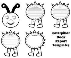 Butterfly Book Report Project: templates, worksheets