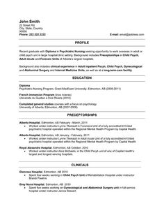 Entry Level Healthcare Resume Example