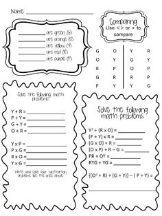 6th Grade Math- Expressions, Equations, Functions