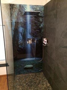 Aus seiner Dusche ein Designerstück machen! Mit bedruckten Rückwänden aus Alu-Verbund, Acryl