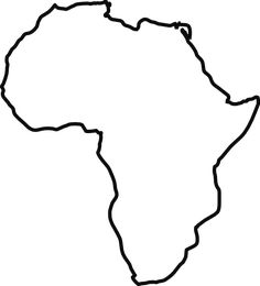 Africa pattern. Use the printable outline for crafts