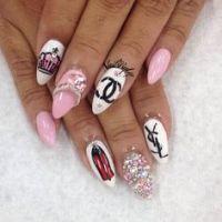 Gangster nails | Nail art 3 ^_^ | Pinterest | Nail art ...