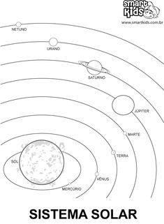 Printable Solar System coloring page. Free PDF download at