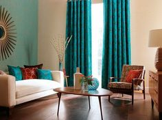 Turquoise Curtains For Living Room Decorate Our Home With
