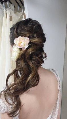 brunette bridal hairstyle hair makeup pinterest barrette bridal and bridal hairstyles