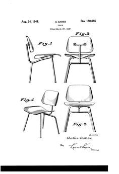 Charles eames; lounge chair; 1956. (dwgAutocad drawing