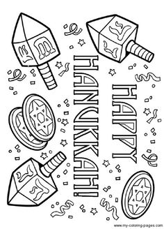 Hanukkah Coloring Pages: Menorahs This IS NOT the