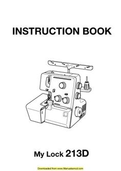 Singer 7462 Sewing Machine Instruction Manual. Here are
