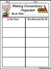 Making Connections Sheet - Printable Worksheet | Teaching ...