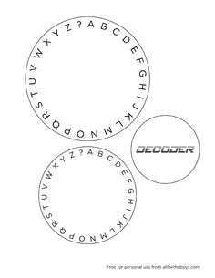 DIY Cipher wheel, with templates. It uses a pin and eraser