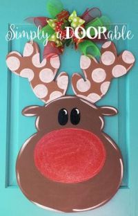 Reindeer Mischief Door Decoration | Reindeer, Design and Kid