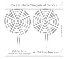 Free Printable Extra Large Peppermint Candy Template