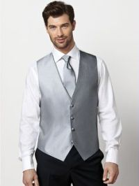 Yay! I finally found it! A black suit with silver vest and ...