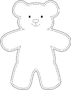 Teddy bear stencil. Also stencils for pieces to make him