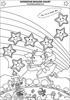 Boys Reward Chart. Chore Chart. Printable. Sticker Chart