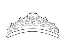 Tiara pattern. Use the printable outline for crafts