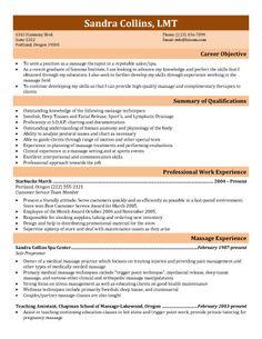 Massage Therapist Resume Sample My Perfect Resume