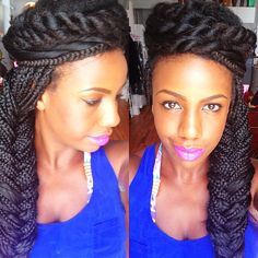 Ombre Box Braids! #boxbraids #ombre #hair Fashionista