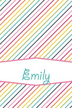 Monogram Iphone Wallpaper App Emily On Pinterest Wallpapers Emily Name And Sweet Girls
